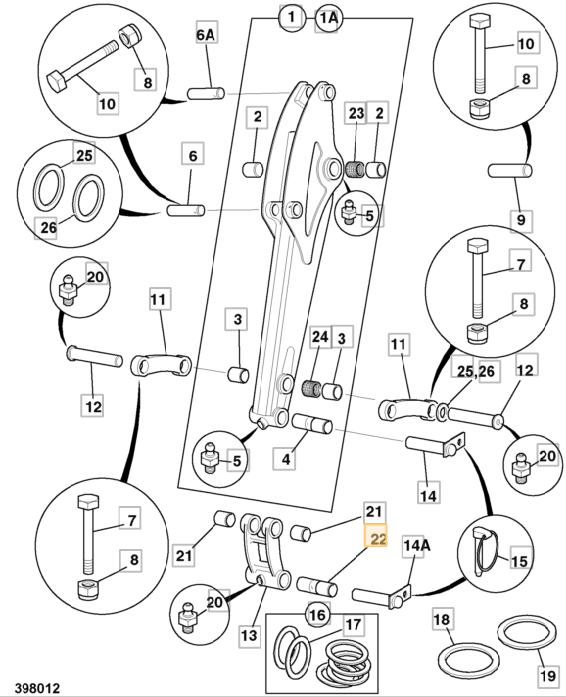 232_32001 Nylonove puzdro ramena JCB mini 802-803
