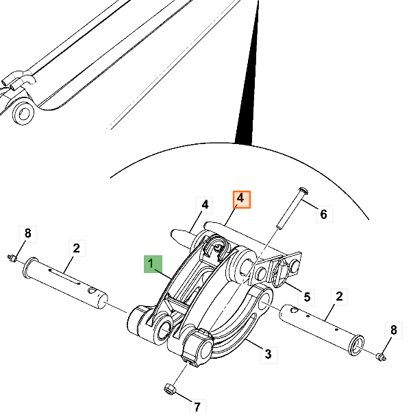 333/S7610 Čap lyžice JCB mini 801x-8020